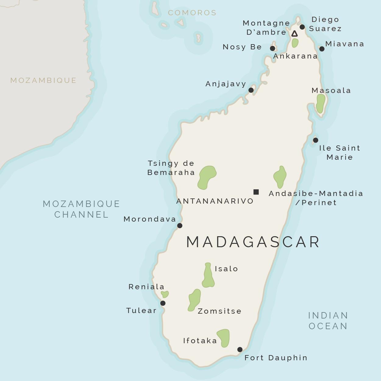 Isla De Madagascar Mapa.Madagascar La Isla De Mapa Mapa De Madagascar Y Las Islas De Los Alrededores Africa Oriental Y Africa