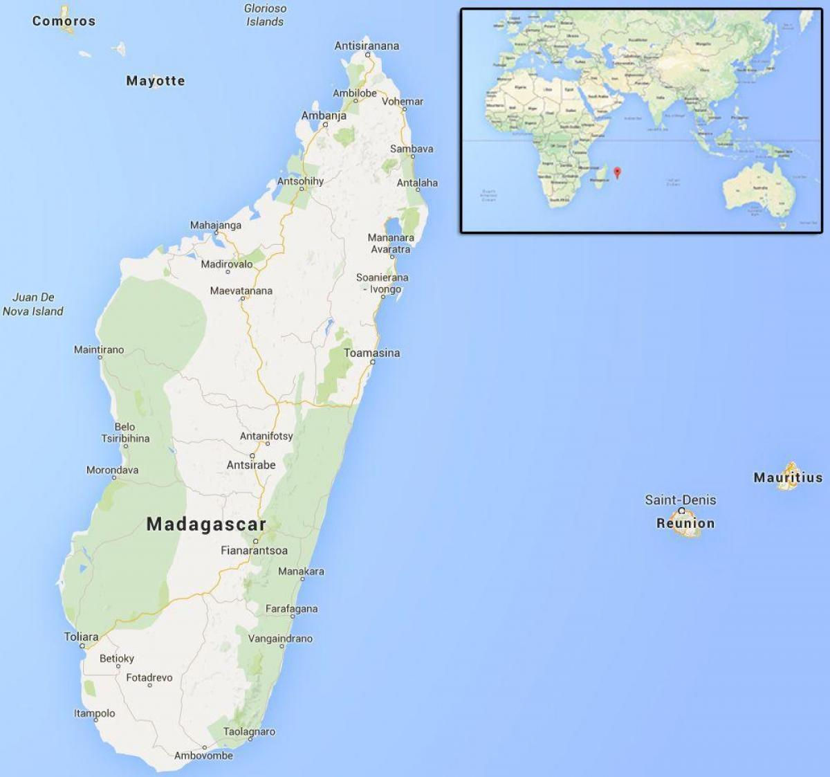 Isla De Madagascar Mapa.Islas Cerca De Madagascar Mapa Mapa De Islas Cerca De